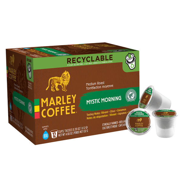 Marley Coffee Mystic Morning Single Serve Coffee 12 Pack