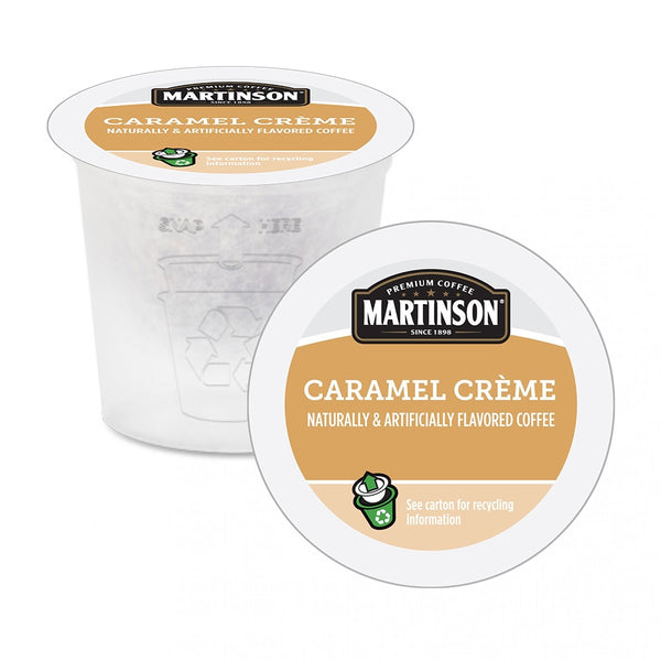 Martinson Caramel Creme Single Serve Coffee 24 Pack