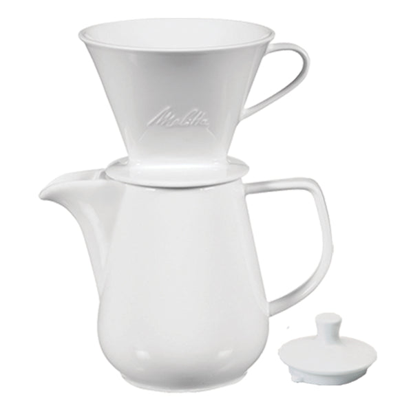Melitta Porcelain Pour-Over Coffeemaker & Carafe Set, 6 Cup