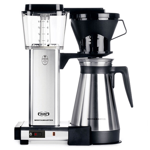Technivorm Moccamaster KBT Coffeemaker in Polished Silver with Thermal Carafe
