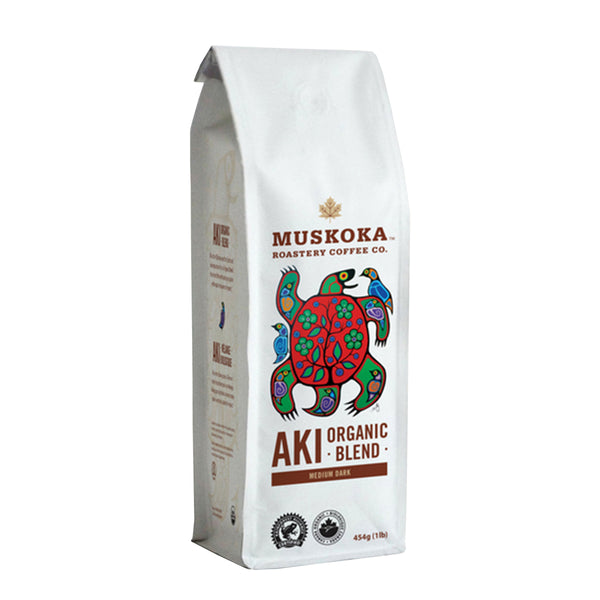 Muskoka Roastery Aki Organic Blend Whole Bean Coffee, 1 lb