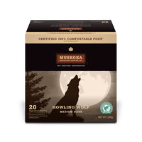Muskoka Roastery Coffee Co. Howling Wolf Single Serve Coffee 20 Pack