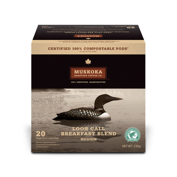Muskoka Roastery Coffee Co. Loon Call Single Serve Coffee 20 Pack