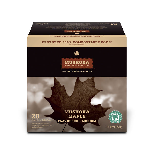 Muskoka Roastery Coffee Co. Muskoka Maple Single Serve Coffee 20 Pack