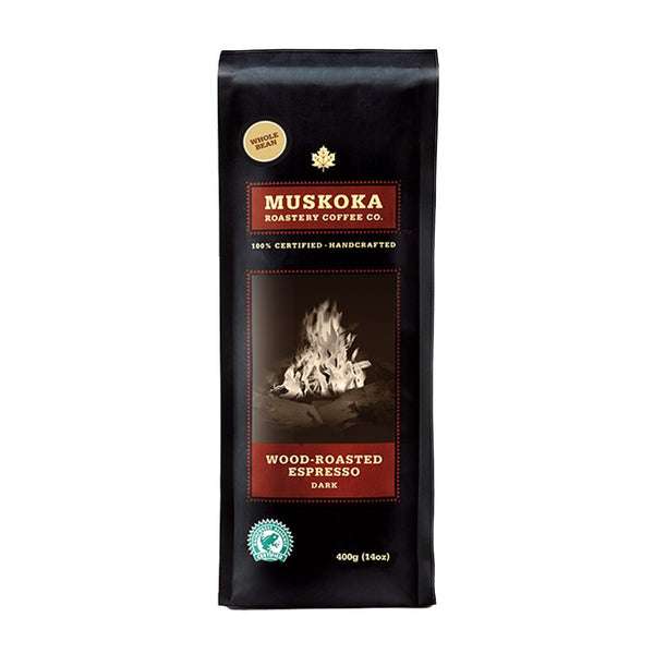 Muskoka Roastery Wood Roasted Espresso Whole Bean Coffee, 14 oz.