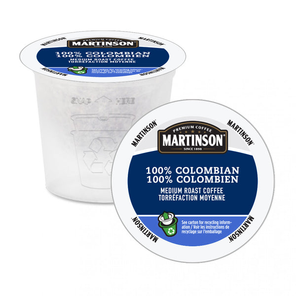 Martinson 100% Colombian Single Serve Coffee 24 Pack
