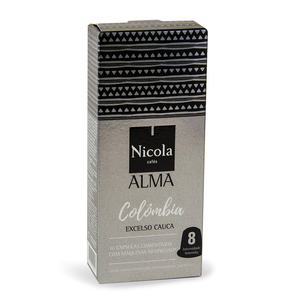 Nicola Cafes Alma Colombia Nespresso Compatible Capsules, 10 Pack