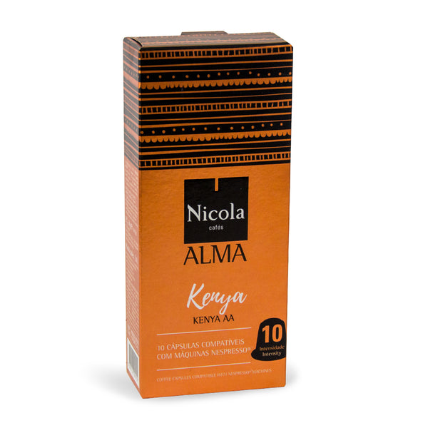 Nicola Cafes Alma Kenya Nespresso Compatible Capsules, 10 Pack