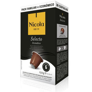 Nicola Cafes Selecto Nespresso Compatible Capsules, 30 Pack