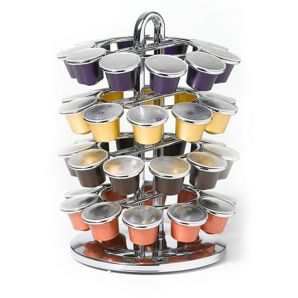 Nifty Solutions 40 Count Nespresso OriginalLine Capsule Carousel, Chrome