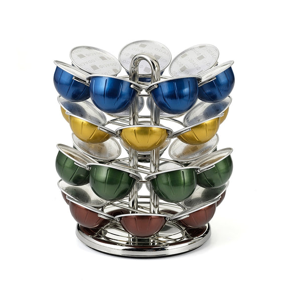 Nifty Solutions 28 Count Nespresso Vertuoline Capsule Carousel, chrome