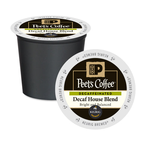 Peet's Coffee Decaf House Blend K-Cup Pods 10 Pack