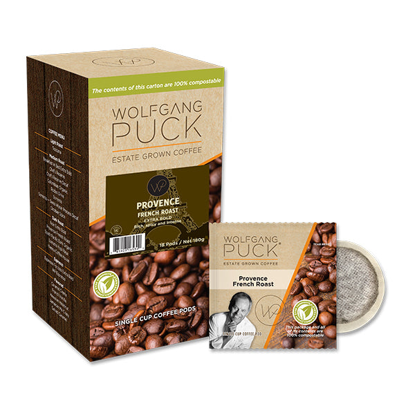 Wolfgang Puck Provence French Roast Coffee Pods 18 Pack