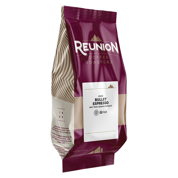 Reunion Coffee Roasters Bullet Espresso Whole Bean Coffee 2 lb