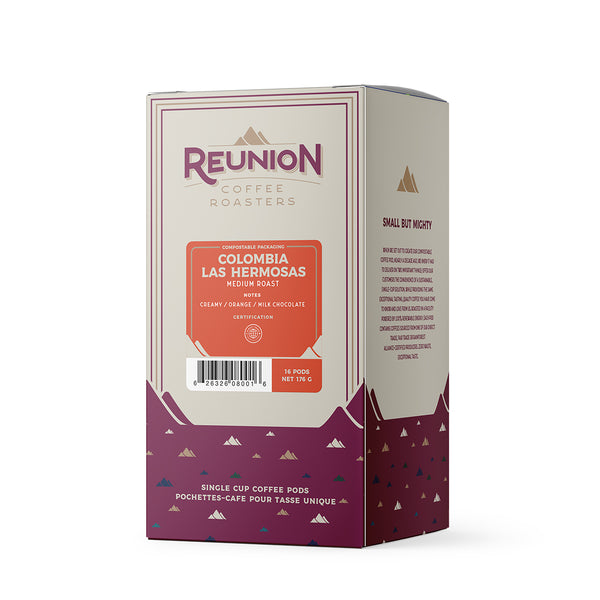 Reunion Coffee Roasters Colombia Las Hermosas Coffee Pods 16 Pack