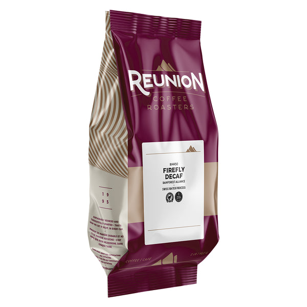 Reunion Coffee Roasters Swiss Water Process Firefly Decaf Whole Bean Coffee 2 lb