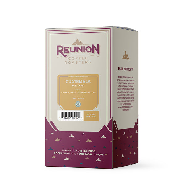 Reunion Coffee Roasters Guatemala Coffee Pods 16 Pack