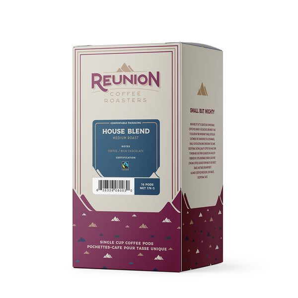 Reunion Coffee Roasters House Blend Coffee Pods 16 Pack