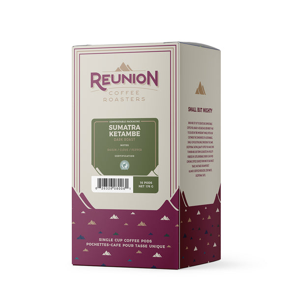 Reunion Coffee Roasters Sumatra Ketambe Coffee Pods 16 Pack