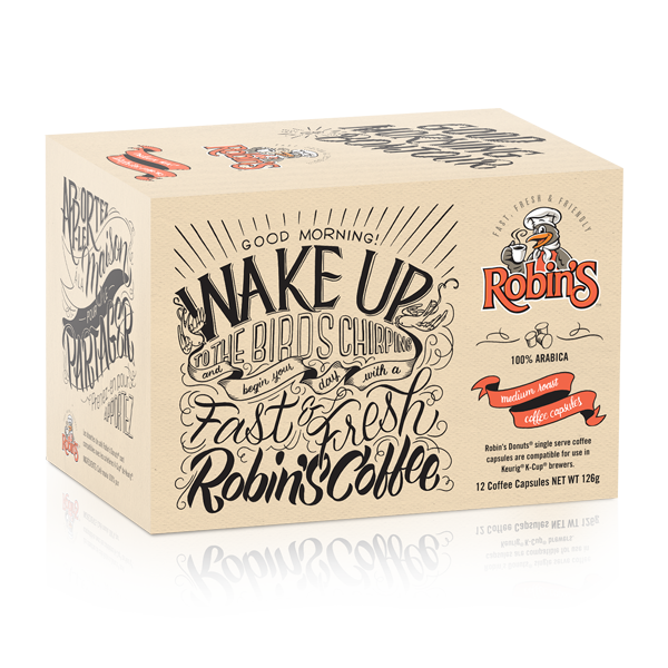 Robin's Donuts Medium Roast Single Serve Coffee 12 Pack