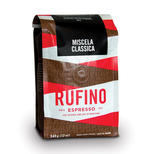 Rufino Espresso Miscela Classica Whole Bean Coffee, 12 oz.