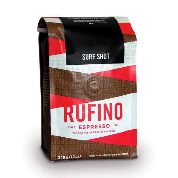 Rufino Espresso Sure Shot Whole Bean Coffee, 12 oz.