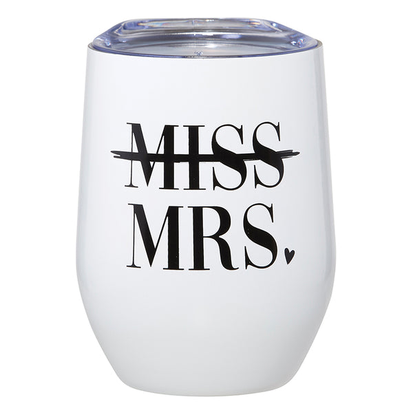 Santa Barbara Stemless Wine Tumbler, Mrs.