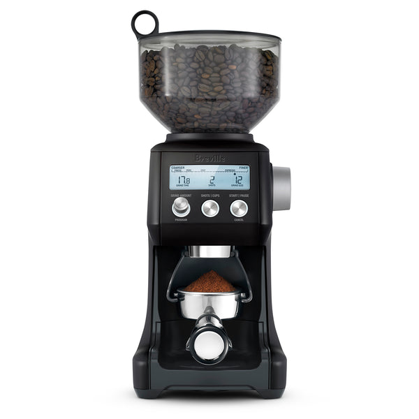 Breville Smart Grinder Pro Conical Burr Grinder, Black Truffle
