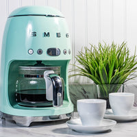 Smeg 50s Style Drip Filter Coffee Machine, Pastel Green