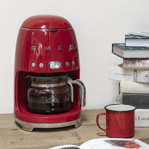 Smeg 50s Style Drip Filter Coffee Machine, Red
