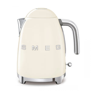 Smeg Electric Tea Kettle in Cream, front