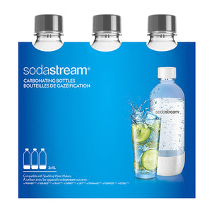 SodaStream Grey 1L Carbonating Bottle, Set of 3