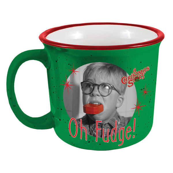 Spoontiques Oh Fudge Camper Mug, 14 oz.