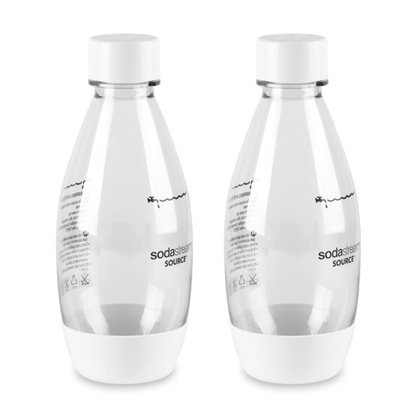 SodaStream White 0.5L Carbonating Bottle, Set of 2