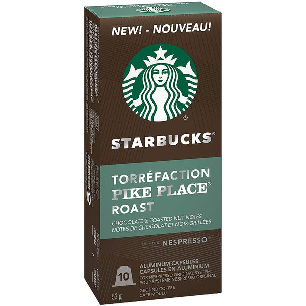 Starbucks Pike Place Nespresso® Compatible Capsules, 10 Pack