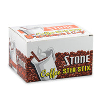"Stone 6"" Plastic Coffee Stir Stix 1000 Pack"