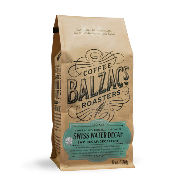 Balzac's Coffee Roasters Swiss Water Decaf Whole Bean Coffee 12oz