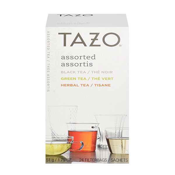 Tazo Assorted Filterbag Black, Green & Herbal Tea 24 Count