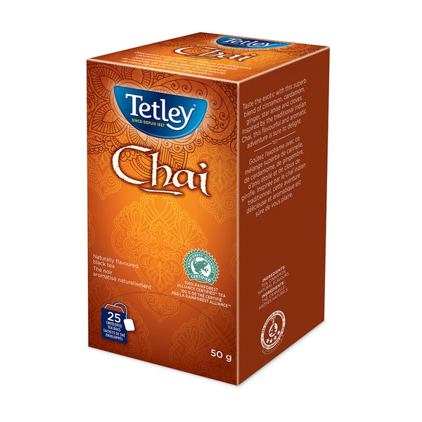 Tetley Chai Drawstring Tea 25 Count
