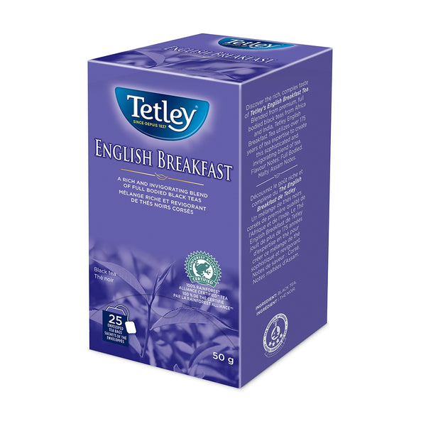 Tetley English Breakfast Tea 25 Count