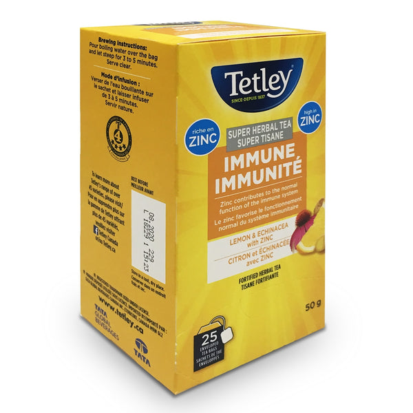 Tetley Immune Lemon & Echinacea Super Herbal Tea, 25 Count