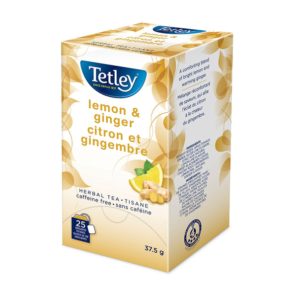 Tetley Lemon & Ginger Tea 25 Count