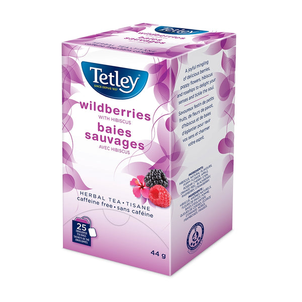 Tetley Wildberries with Hibiscus Tea 25 Count