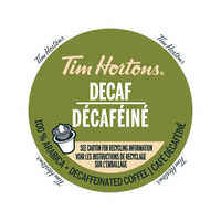 Tim Hortons Decaf Coffee Single Serve 12 Pack