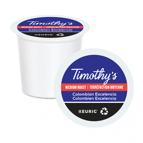 Timothy's Colombian Excelencia K-Cup Pods 24 Pack
