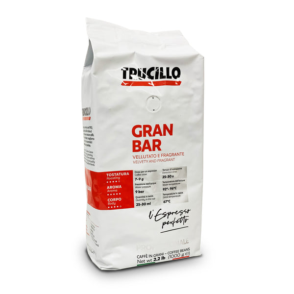 Trucillo Espresso Gran Bar Whole Bean Coffee 1kg