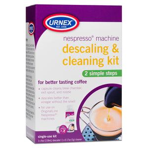 Urnex Nespresso Machine Descaling and Cleaning Kit