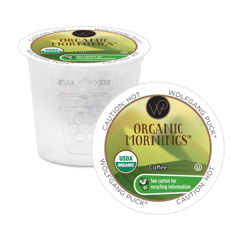 Wolfgang Puck Organic Mornings Single Serve Coffee 100 Pack