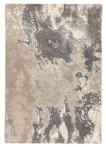 "Aegean Abstract Gray/Beige Area Rug (9' 0"" x 12' 6"")"