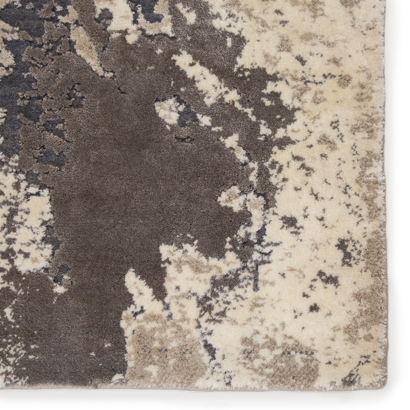 "Aegean Abstract Gray/Beige Area Rug (5' 3"" x 7' 6"")"